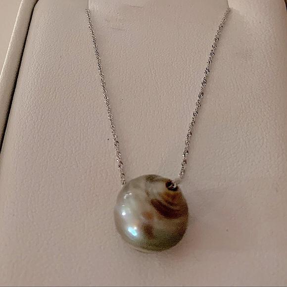 "Na Hoku Jewerly- Tahitian Pearl necklace. 20""."